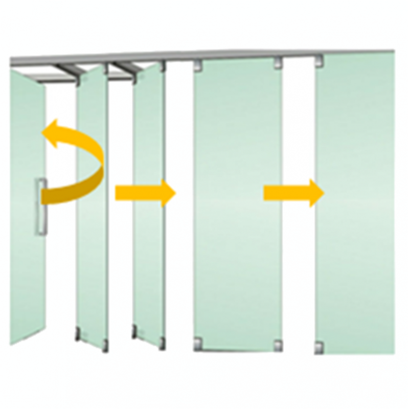Tabique m vil vidrio con puerta 1 isae ingenier a de - Tabiques divisorios moviles ...