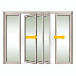 Tabique móvil vidrio sistema 2