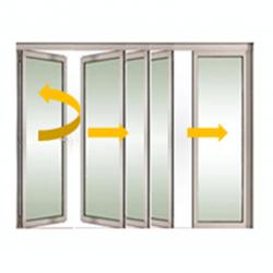 Tabique móvil vidrio con puerta 2
