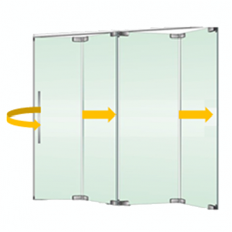 Tabique m vil vidrio plegable con puerta 1 isae - Tabiques divisorios moviles ...