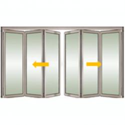 Tabique móvil vidrio bidireccional 2