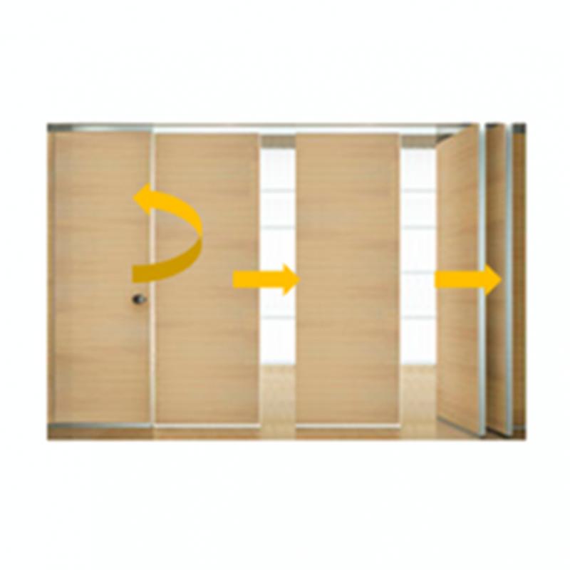 Tabique m vil madera con puerta 1 isae ingenier a de accesos s l - Tabiques de madera ...