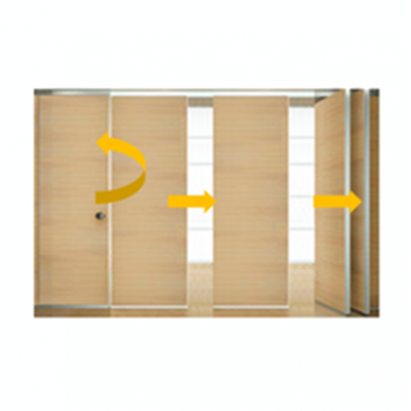 Tabique m vil madera con puerta 1 isae ingenier a de - Tabiques divisorios moviles ...