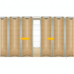 Tabique móvil madera bidireccional 2