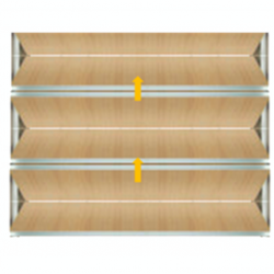 Tabique móvil madera ascendente
