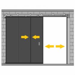 Puerta corredera telescópica