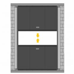 Puerta de guillotina especial