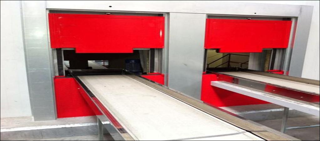 Sistema de cerramiento cortafuegos para cinta transporte